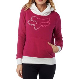 Fox Racing Womens Pullover Hoody Red