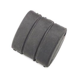 Black Bikers Choice Brake Pedal Rubber Pad For Harley Big Twin