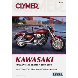Clymer Repair Manual For Kawasaki Vulcan 1600 Classic Mean Streak Nomad 2003-08