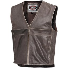 Brown River Road Mens Drifter Leather Vest 2014 46
