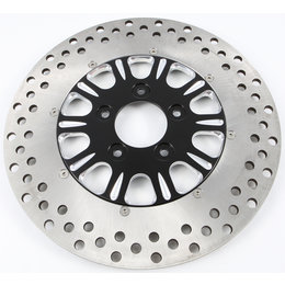 HardDrive 2 Piece Brake Rotor Front Luck 11.5 In For Harley F2121AFU115-2P Black