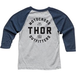 Thor Youth Boys Outfitters 3/4 Sleeve Raglan T-Shirt Blue