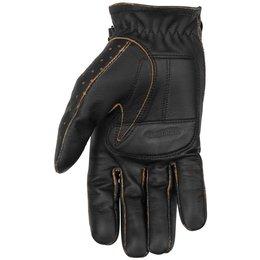 Black Brand Mens Vintage Knuckle Leather Gloves Black