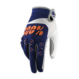 100% Mens Airmatic MX Motocross Offroad Riding Gloves Blue