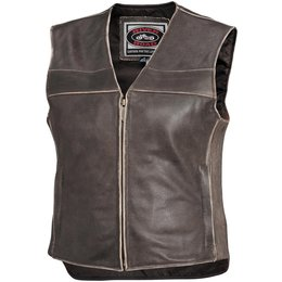 Brown River Road Womens Drifter Leather Vest 2014