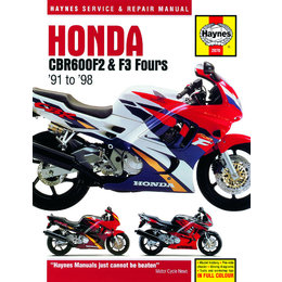 Haynes Service And Repair Manual For Honda 91-98 CBR600F2 CBR600F3 Fours M2070 Unpainted