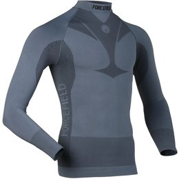 Forcefield Mens Base Layer Long Sleeve Shirt Black
