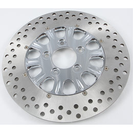 HardDrive 2 Piece Brake Rotor Front Luck 11.5 In For Harley F2121CFU115-2P Silver