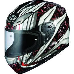 White, Red Kabuto Mens Aeroblade Iii Rovente Full Face Helmet 2014 White Red