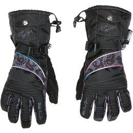 Black Divas Womens Lace Collection Textile Snow Gloves 2014