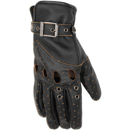 Black Brand Womens Vintage Venom Leather Gloves