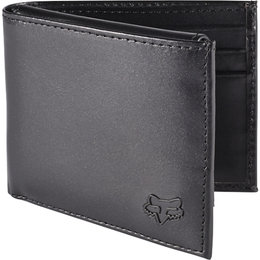 Fox Racing Leather Bi-Fold Wallet Black