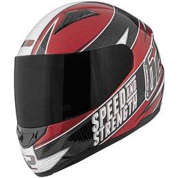 Red, Black Speed & Strength Ss110 62 Motorsports Full Face Helmet 2013 Red Black