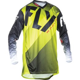 Fly Racing Mens MX Offroad Lite Hydrogen Jersey Yellow