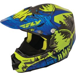 Fly Racing HMK F2 Carbon Pro Stamp Cold Weather Helmet Blue