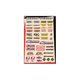 FLU Designs Logo Sticker Sheet B 12 X 18 Inch