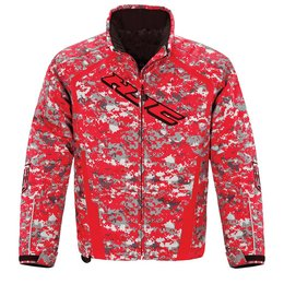 HJC Mens Camo Storm Snowmobile Jacket Red