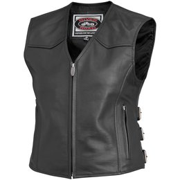 Black River Road Womens Plains Leather Vest 2014