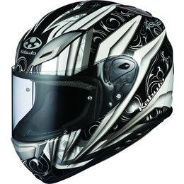 White, Silver Kabuto Mens Aeroblade Iii Rovente Full Face Helmet 2014 White Silver