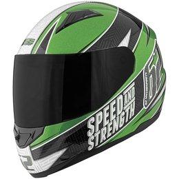 Green, Black Speed & Strength Ss110 62 Motorsports Full Face Helmet 2013 Green Black