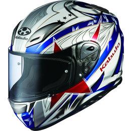 Tricolor Kabuto Mens Aeroblade Iii Stellato Full Face Helmet 2014