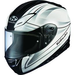 Pearl White Kabuto Mens Aeroblade Iii Linea Full Face Helmet 2014