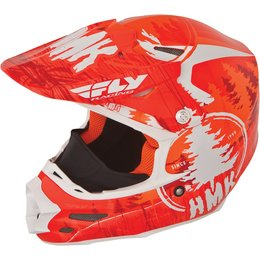 Fly Racing HMK F2 Carbon Pro Stamp Cold Weather Helmet Orange