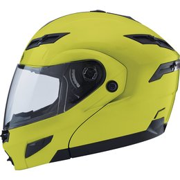 GMax GM54S Modular Helmet With Flip Up Shield And Built In LED Light Yellow
