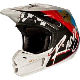 Fox Racing Mens V2 ROHR DOT Approved Motocross MX Riding Helmet Black