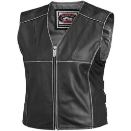 Black River Road Womens Rambler Leather Vest 2014