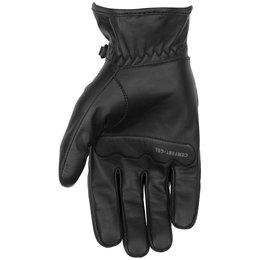 Black Brand Mens Freeway Leather Gloves Black