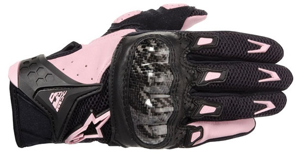 ... Pink Alpinestars Womens Stella Smx-2 Air Carbon Leather Gloves Black  Pink