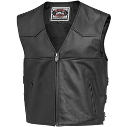 Black River Road Mens Plains Leather Vest 2014 56