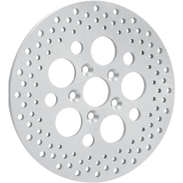 Drag Specialties Rear Brake Rotor With Zinc Finish For Harley Silver 1710-1064 Silver