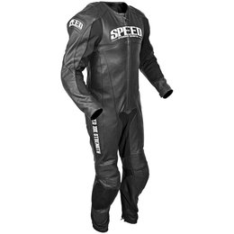 Black Speed & Strength Triple Crown One Piece Leather Suit 2013 Us 46