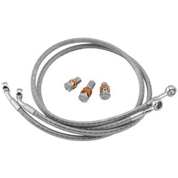 Goodridge Braided Hydraulic Clutch Lines 69 Inch SS For Harley-Davidson Big Twin