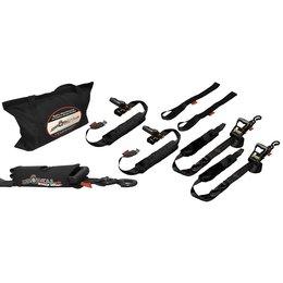 Drop-Tail Premium Motorcycle Tie-Down Kit Black Universal