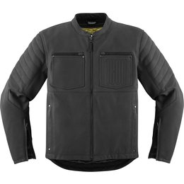 Icon Mens 1000 Collection Axys Armored Leather Riding Jacket Black