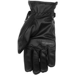 Black Brand Womens Back Road Leather Gloves Black