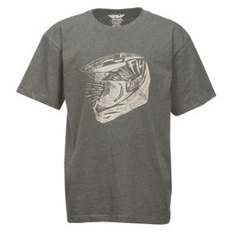 Fly Racing Youth Head Case T-Shirt Grey