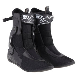 Alpinestars Mens Tech 10 Replacement Inner Booties Boot Liners Pair Black