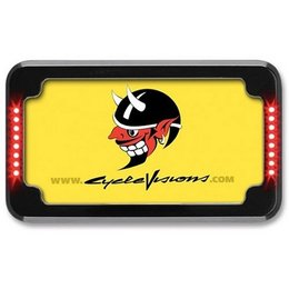 Chrome Cycle Visions Slick Signals Plate Frame With Light