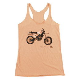 FMF Womens Kurt Caselli Sandstorm Racerback Scoop Neck Tank Orange