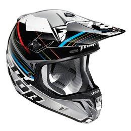 Black, Silver Thor Verge Stack Helmet Black Silver