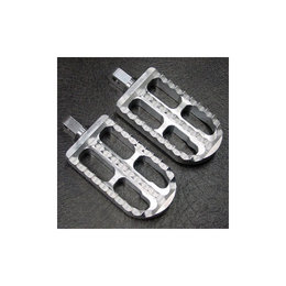 Joker Machine Adjustable Long Profile Serrated Footpegs Clear Anodized H-D Tri