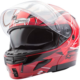 GMAX GM54S GM-54S Scribe Modular Snowmobile Helmet With Dual Pane Shield Red