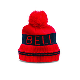Red, Black Bell Powersports Mens Retro Band Beanie 2014 Red Black