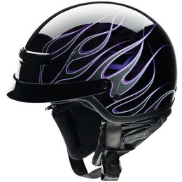 Black, Purple Z1r Nomad Hellfire Half Helmet Black Purple