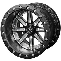 Hiper Wheel Dakar 2 14x6 4+2 Offset 4/136 4/137 Bolt Pattern Black