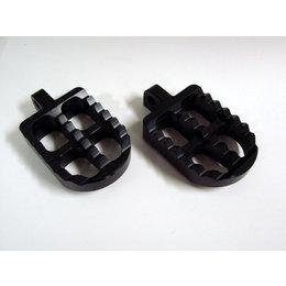 Joker Machine Adjustable Short Profile Serrated Footpegs Black Anodized H-D Tri